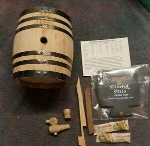 2 Liter American Oak Bourbon Whiskey RUM Moonshine Aging Barrel Med Char + GIFTS