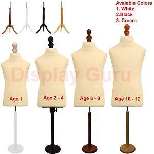 Child Kids Tailor Dummies Tailors Dummy Dressmakers Mannequin Bust Display