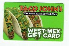 Taco John's Gift Card Restaurant - West-Mex Food - 2007 - No Value - I Combine