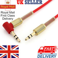 3.5mm Male to Male M/M Jack Car Audio Stereo Aux Spring Cable 1M for iPod MP3