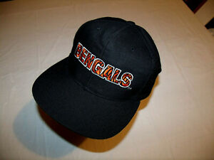 Cincinnati Bengals Black Hat Spelled Out VTG New Era Pro Model Snapback 30% Wool