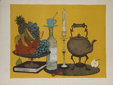 Denis Paul NOYER-Lithographie originale signée-Le sirop de menthe
