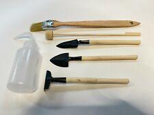 Terrarium Tool Kit 6pcs Shovel Rake Spade Brush Water Bottle Mini Garden