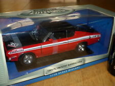 1969 PLYMOUTH BARRACUDA, DIE CAST METAL BODY FACTORY BUILT MODEL Toy, SCALE 1/18