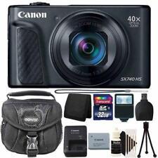 Canon PowerShot SX740 20.3MP Digital Camera Black+ 32GB Deluxe Accessory Package