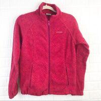 Women's Columbia magenta pink full zip up fleece jacket size medium