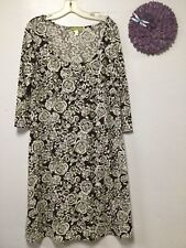 55f05e1d77 Ladies dress size large brown green white 3 4 sleeves Sigrid Olsen 30