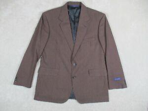 Pendleton Men's 46L Sports Coat Blazer Brown Plaid Polyester Wool 2 Button New