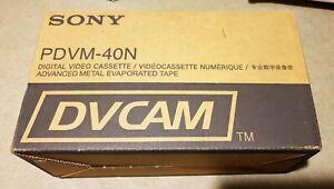 Sony PDVM-40N Box of 10 x NEW DIGITAL DVCAM VIDEO TAPES P=89609241-4 GENUINE