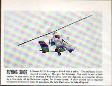 1957 Magazine Photo Benson B-7M Gyrocopter Helicopters Flying Shoe