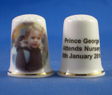 Birchcroft  Thimble -- Prince George 1st Day at Nursery School - Free Gift Box