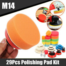 "29x 1/2/ 3"" Sponge Buffing Polishing Pad With M14 Adapter Kit For Car Polisher"