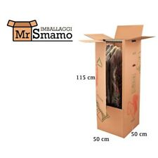 5 Appendiabiti 50x50x115 Kit Scatola Imballaggio Spedizione Trasloco Imballi