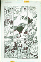 Superboy and the Ravers #17 Josh Hood Original Comic Art Page #18 DC Comics 1997