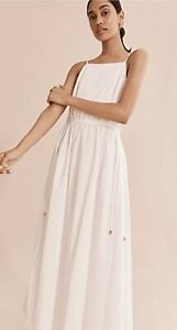 NWT COUNTRY ROAD MAXI DRESS 12 14 M L | White Belted Dress | RRP$179 CR FIL