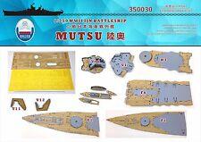 Shipyard 1/350 350030 Wood Deck IJN Mutsu for Hasegawa