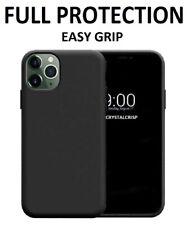 Funda para iPhone SE 2 11 Pro Xr XS Max 8 de 7 PLUS de silicona a prueba de golpes X CUBIERTA NEGRA