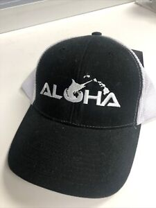 Pelagic Aloha Offshore Cap Black Hawaii High Performance Fishing Gear Hat, Rare!