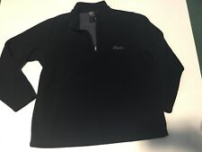 Roots Canada Men's Zip Pullover Sz XL EUC Fleece navy blue Sweater pullover