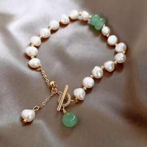 Classic Fashion Natural Stone Pearl Pendant Bracelet For Woman Luxury Jewelry