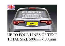 Personalised business rear window Car & Van Vinyl Signs Stickers decals