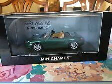 Minichamps Porsche Boxster (986) In Green Metallic. 2002 Model in 1/43 scale