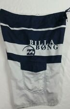 Billabong Spellout Mens Size 32 Blue Gray Drawstring Trunks Board Shorts