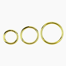 1 Gold Plated Seamless Silver Hoop Ring 18g Nose Lip Ear  Choose 6mm 8mm 10mm #G
