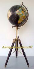 "Vintage Replogle 12"" World Classic Series Raised Globe on Beautiful Tripod Stand"