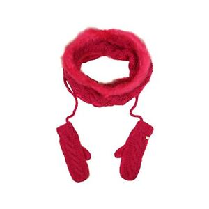 New Lipsy snood and gloves pink set/ neon pink/ scarf and gloves set /fashion