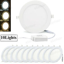 10 Pcs - Led Recessed Ceiling Panel Down Lights Lamp Fixtures 9W 12W 15W 18W 24W