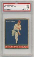 1933 Goudey Gum #65 Milton Gaston PSA 3.5 VG+ Chicago White Sox SET BREAK