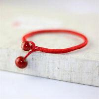 2X Lucky Red String Bracelets Men Women Hand Braided Bead Bracelet Jewelry Gift