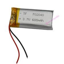3.7V 600 mAh Polymer Li Battery For Mp3 Mp4 GPS bluetooth Headset Pen 702040