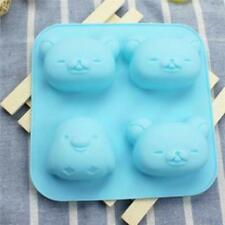 4 Cavity Bear Shape Silicone Cake Mold Baking Tool Bakeware Maker Mould Tray - S