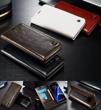 Luxus Wallet Flip Leder Magnet Book Style Case Cover Schutz Hülle Etui Schale