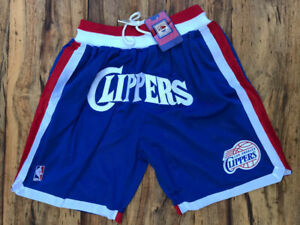 Los Angeles L.A. Clippers Men's Just Don Blue Basketball Stitched Shorts