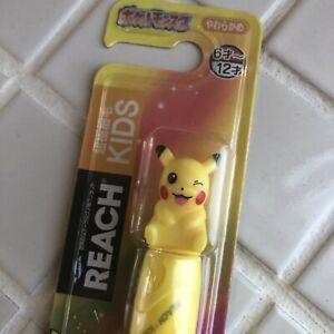 REACH Pokemon Pikachu Kids Toothbrush Soft brush for 6-12 years old kids F/S