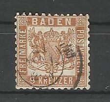 Gestempelte Briefmarken aus dem altdeutschen Baden (bis 1945)