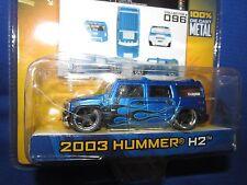 dub city  2003 hummer H2 blue  custom   mags   jada 1/64  8+ big TIME