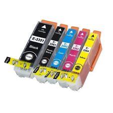 5 Cartouches  équivalent EPSON T3357 XL compatible « Oranges » premiums