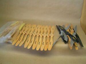 NOS 21 Maple props, 10 Rev-Up Pro 12-5W & 11 Jzinger 10-6, PLUS 15 used props