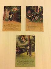 After While Set of 3 Bamforth Edwardian Era Postcards