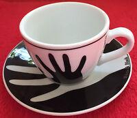 """Ein Paar Eschenbach Porzellan Kaffee-Set Design White & Black """"HÄNDE"""""""