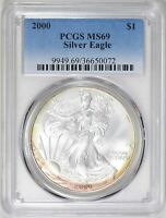 2000 $1 American Silver Eagle PCGS MS69  ( Beautifully Toned ) ASE