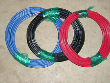 8 AWG 3 ROLL 50' EACH THHN WIRE STRANDED BLACK ,RED, BLUE THWN 600V COPPER CABLE