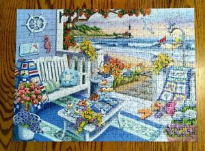 "Ravensburger 500 Seaside Sunshine Jigsaw Puzzle 19.5""x14.25"" COMPLETE"