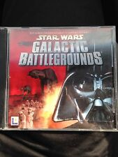 Star Wars - Galactic Battlegrounds Cd Rom, Like New, 2 Discs