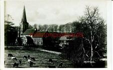 REAL PHOTOGRAPHIC POSTCARD OF THE MITFORD CHURCH, NEAR MORPETH, NORTHUMBERLAND