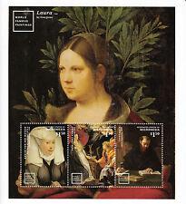 Micronesia 2014 estampillada sin montar o nunca montada mundialmente famosa pinturas 3v MS II Peter Paul Rubens Caravaggio